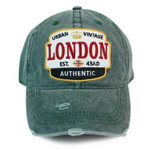 London Urban Vintage Distressed Baseball Cap