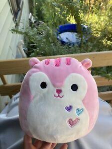 "Squishmallow SARAH THE Pink SQUIRREL 8"" Stuffed Plush 💕 Valentines"