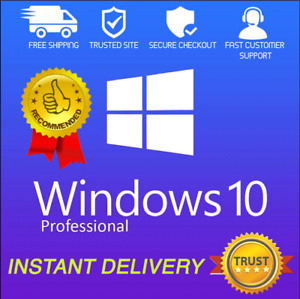 ✅Windows 10 Pro 🔥Activation lifte time®System 🔥🔥INSTANT DELIVERY🔥🔥✅