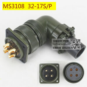 4 core elbow type aviation plug  MS3108A 32-17 S/P