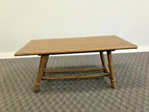 Vintage Mid Century Modern COFFEE TABLE bamboo bentwood boho chic wood 1950s 60s