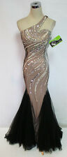 Cassandra Stone by MacDuggal 82053M Blk Nude Gown 4