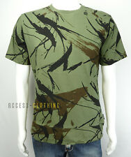 TEE-SHIRT MANCHES COURTES HOMME ADDICT GRAPHIQUE STYLE CAMOUFLAGE KAKI TAILLE S