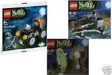 3x LEGO Monster Fighters Zombie Chauffeur + Geist + Quad 30200 + 30201 + 40076