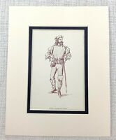 1889 Antico Stampa The Merry Wives Di Windsor Teatrale Costume Nym Falstaff