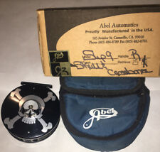 Abel Super 9 Skull & Crossbones Saltwater Fly Fishing Reel with Bag and Box