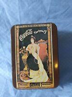 Vintage Coca Cola Tin Box At Soda Fountains 5 Cents, Delicious Coke #A49