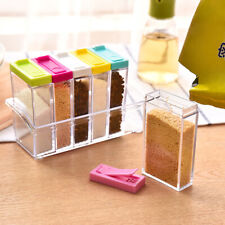 New 6ps/set Colorful Kitchen Seasoning Bottle Condiment Storage Container