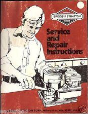 Equipment Manual - Briggs & Stratton Engine Service Repair Instructions (E1762)