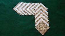 40 4x4 Beige Quilt Fabric Squares~4054X