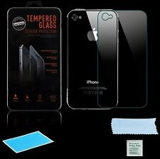 Backs Cristal protector para Apple iPhone 4 4g 4s Auténtico Compuesto CRISTAL