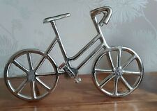 Bicycle Ornament Silver Metal Racing Cycle Sculpture Ornament Gift 34cm New