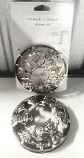 Yankee Candle Illuma Lids Lot of two Silver Christmas Holiday