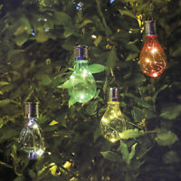 Waterproof Solar  LED Bulb Light Garden Camping Hanging Lamp Outdoor Decor