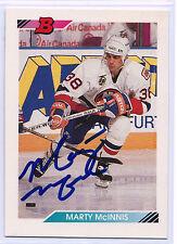Marty McInnis signed 1992-93 Bowman hockey New York Islanders autograph #352
