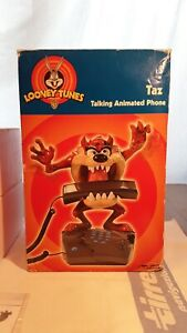 Looney Tunes (Warner Brothers) Taz Talking Animated Phone, New Old Stock