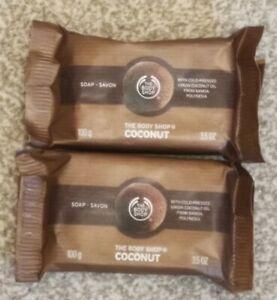 Body Shop Coconut Soap 100g New x 2