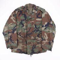 Vintage Khaki Green Camo Army Military Combat Jacket Size Mens Large