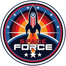 """The Space Force Reflective Decal - Sticker 3.5"""" logo"""