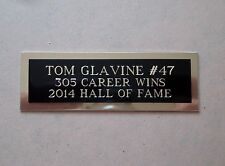 "Tom Glavine Nameplate For A Baseball Ball Cube Square Or Card Plaque 1"" X 3"""