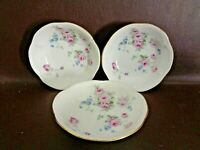 Set of 3 China Berry Bowls Floral Pattern Made In Germany