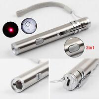 2in1 Multifunktions Mini USB Wiederaufladbare LED Taschenlampe Pen Taschenlampe