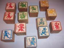Disney Character alphabet blocks Set of 13 Antique
