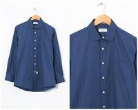 90s Vintage Mens YVES SAINT LAURENT Shirt Long Sleeve Blue Size M