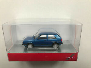 Herpa 430838 VW Golf II Gti Avec Jantes Sport, Métallique Bleu, Modèle 1:87 (H0