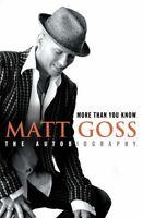 More Than You Know,Matt Goss- 9780007201457