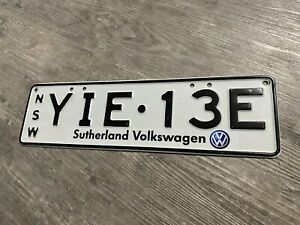 Sutherland Volkswagen Car Dealership Number Plate Licence Plate YIE13E