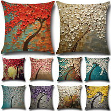 Vintage Flower Tree Floral Print Throw Pillow Case Cushion Cover Home Sofa Decor