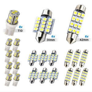 20x White LED Car Interior Light Dome Map Door License Plate Lights Universal