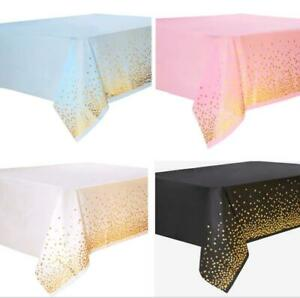 Large Disposable Plastic Table Covers Wipe Clean Party Table cloth Covers UK