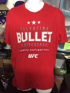 Valentina Shevchenko Bullet UFC Red Shirt XL *SEE PICS*