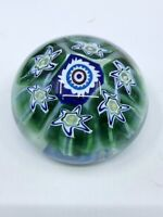 Murano Italy Glass Large Cane Paperweight