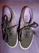 Girl's Vans Shoes Size 2.5  Purple and Black