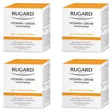 RUGARD VITAMIN CREME 4x100ml Antifaltenpflege für trockene Gesichtshaut + PROBEN