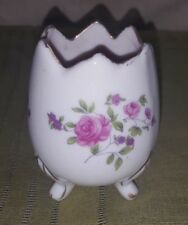 Vintage Porcelain Made in Japan Small Footed Candle Holder Votive w Flowers