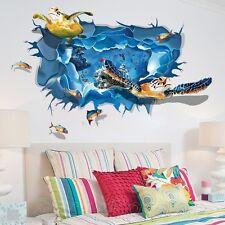TURTLES SEA LIFE FISH HUGE 3D POSTER ROOM WALL ART STICKER DECAL HOME DIY DECOR