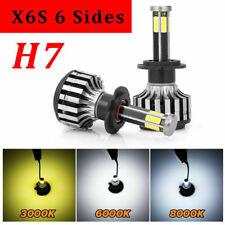 2x H7 6Sides 3000K 6000K 8000K Led Headlight Kit COB Chip Car Light 32000LM 200W