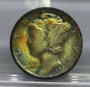 1921 Mercury 90% Silver Dime