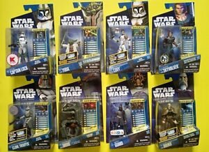 Star Wars The Clone Wars action figures lot bundle 3.75 Lock Mandalorian Police