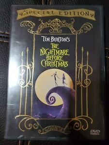 Tim Burton's THE NIGHTMARE BEFORE CHRISTMAS Special Edition DVD w/paper Insert!!