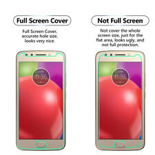 2x FULL SCREEN Face Curved TPU Screen Protector Cover For Motorola Moto E4 XT176
