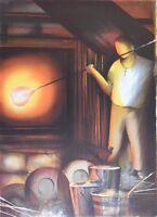 Poulet Raymond: El Cisne - Litografía Original Firmada / Numerada #450ex