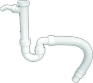 Siphon f. Spüle Geruchsverschluss Ablaufgarnitur m.flexiblen Schlauch