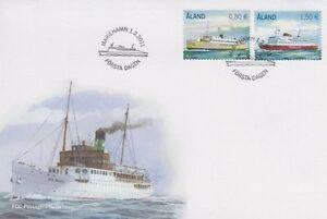 Aland Vintage Europe Viking Boats Passenger Ferries Aland Finland Mint FDC 2011