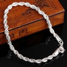 """Silber Armband Schmuck Armreif Damen Frauen  8"""" inch 4mm 1PC"""
