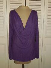 EILEEN FISHER Purple Draped Wool Alpaca Blend Sweater - M